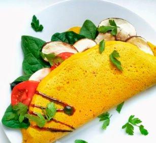 Gefülltes Omelette vegan