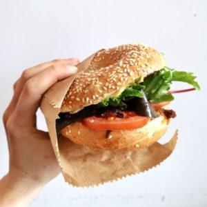 Belegter Bagel vegan