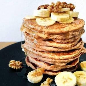 Bananen Pancakes Buchweizen vegan