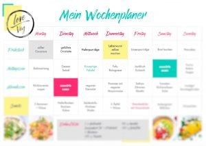 Love Veg Wochenplanner Meal Planner