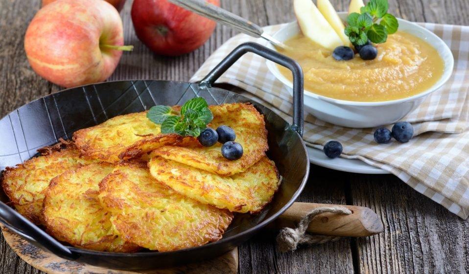 Reibekuchen, Rösti, Reibepuffer, Kartoffelkuchen vegan