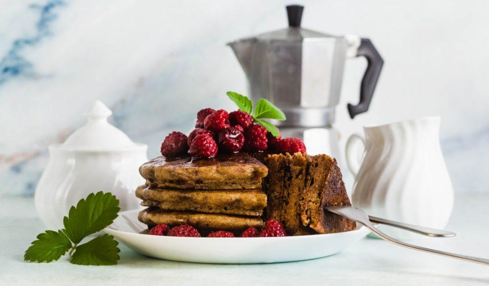 Schokoladig fluffige Pancakes