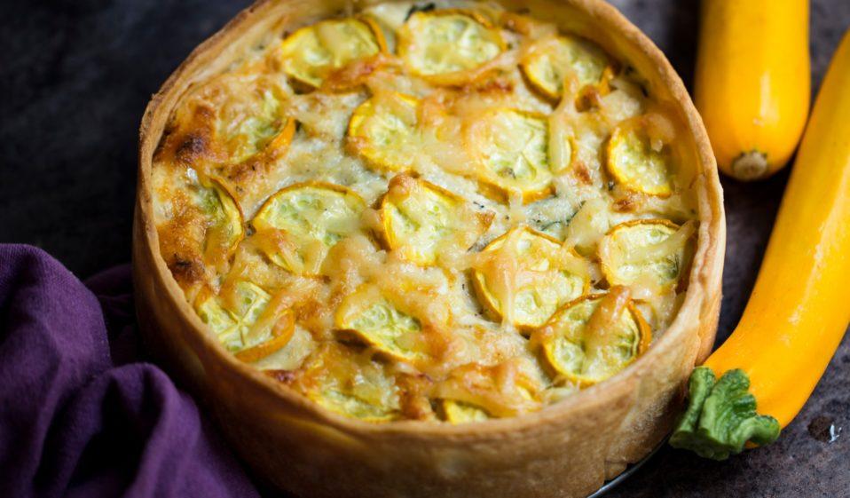 Zucchini Quiche vegan
